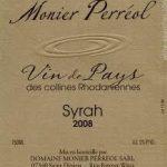 Easy Tempo etiket Vin de Pays Syrah